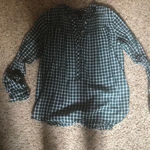 Jcrew 3/4 button down blouse